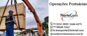 Operações portuárias em Manaus